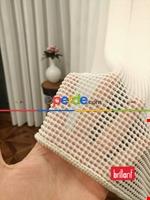Brillant Örme Dantel Gri Renk Yüksek Gramajlı Dökümlü Tül Perde- Gri Açık Ekru
