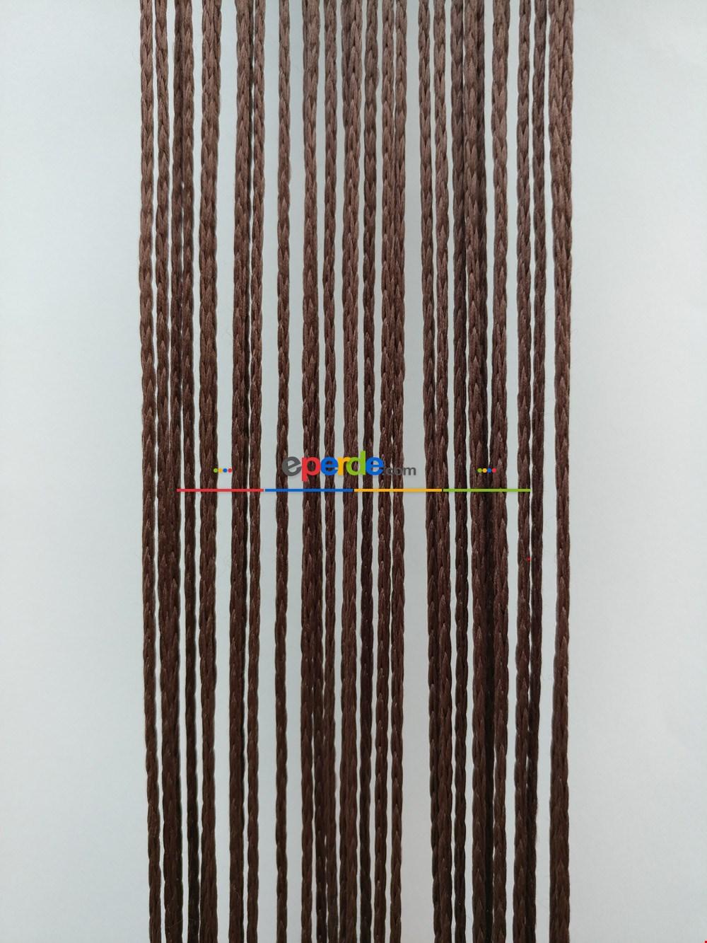 Kahverengi İp Perde