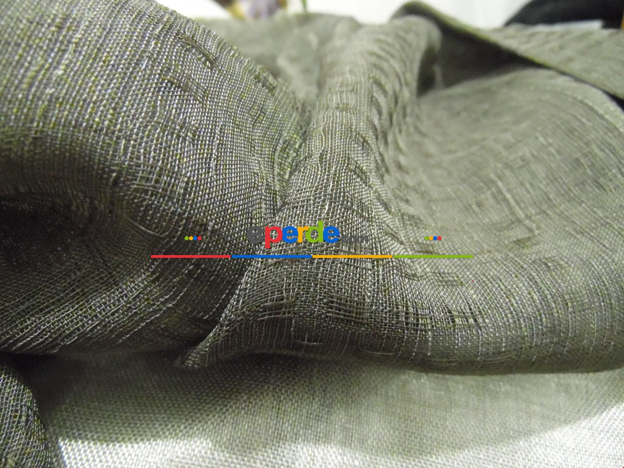 Çift Renk Keten Tül - Fon Perde 90cm X 260cm