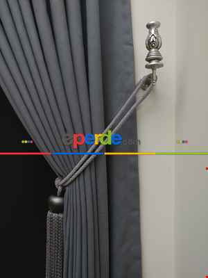 Salon Fon Perde - Gri Düz Renk Dökümlü Fon Perde (150)- Gri Açık