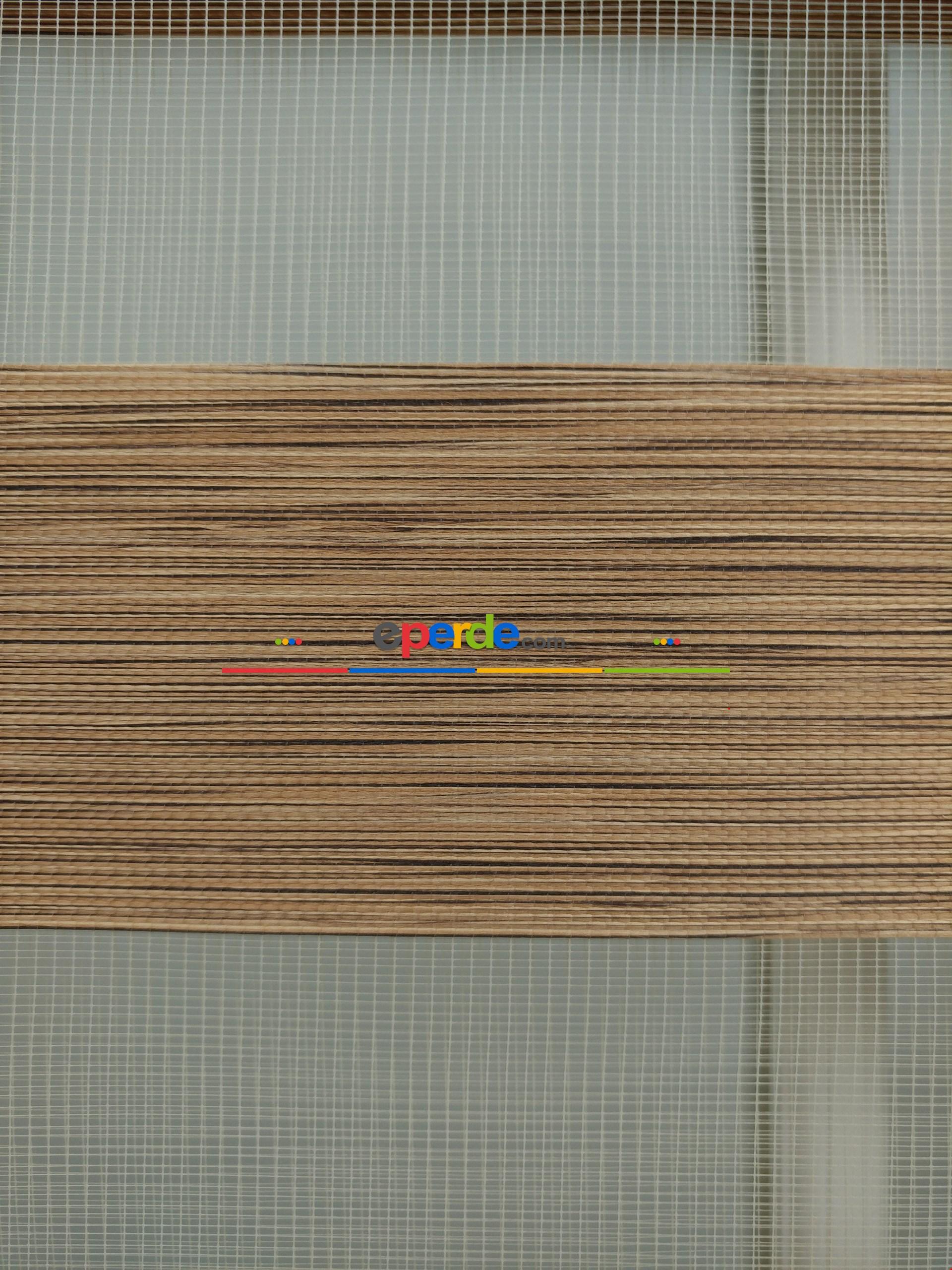 Kahve Bambu Zebra Perde 60x200cm