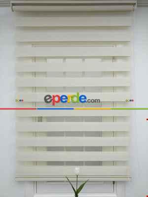 Salon Zebra Perde -İndirimli! Krem Renk Bambu Zebra Perde(1.kalite) Ozel Fiyat- Krem