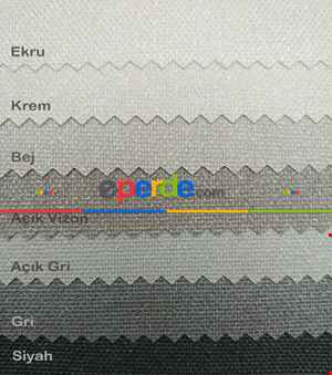 Yaldızlı Stor Perde - Panama Simli Seri - Kalın Dokulu 13 Farklı Renk- Siyah-mavi-gri-füme-antrasit-sarı-krem-bej-turkuaz-pembe-mor-fuşya-vizon Rengi-ekru-çok Renkli