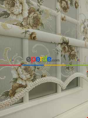 Çift Sistem Tül Stor Perde Clısson Series 1649- Vizon Rengi-ekru-hardal-hardal Sarısı