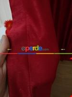 Soft Mürdüm Rengi Fon Perde Geniş En (285)- Mürdüm Kırmızı