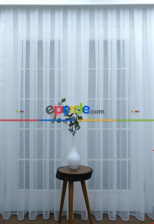Salon Tül - Dönergücü Zemin Tül Perde Beyaz Renk 1.kalite- Beyaz