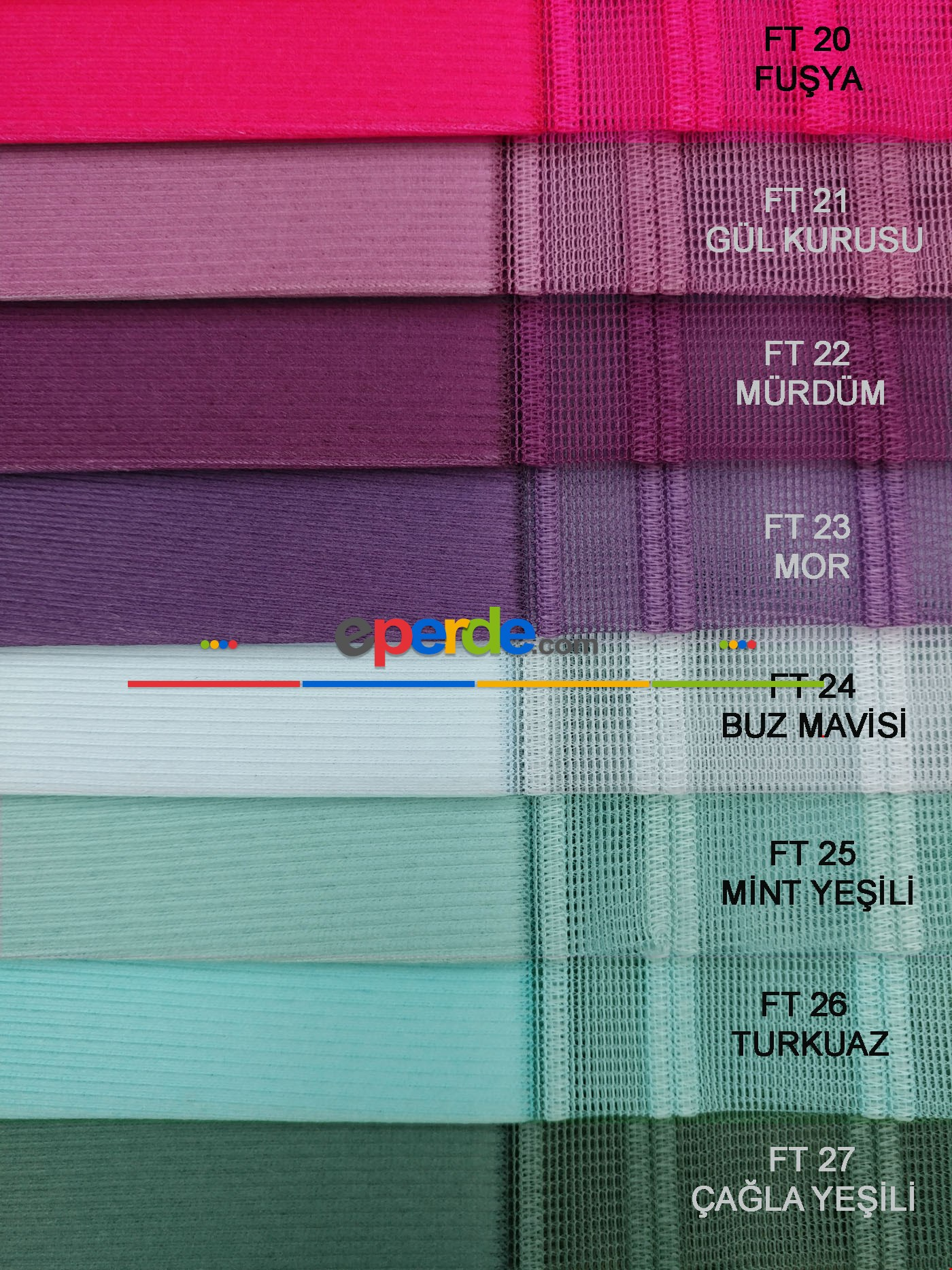 1. Kalite Çizgili Tül Dikey Zebra Perde - Ft-33 Parlament , Ft-31 Okyanus , Ft-26 Turkuaz , Ft-02 Ekru