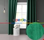 Uzay Mavisi Ada Fon Perde 51 Renk Seçeneği 150x260 Perle Home Daily Series Yeşil