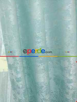 Su Yeşil - Katyonik Jakar Fon Perde- Su Yeşili