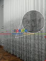 Modern Desenli Baskılı Tül Perde Şantuk Keten 2020 Vizyon Serisi Gri - Füme - Ekru - Kahve