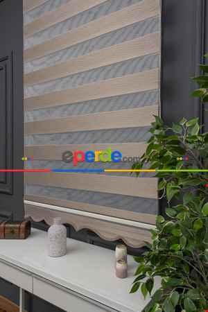 Salon Zebra Perde - Zebra Perde- Batik Kırık Beyaz Renk Bambu Zebra Perde (kalın Zeminli)- Beyaz