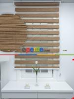 #üreticifirma %40 Indirimli !!! Bej - Bambu Zebra Perde - Simli- Bej Kahverengi