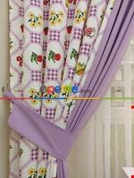 Mutfak Fon Perdesi Çatal - Kaşık - Bıçak 3 ( Leke Tutmaz ) Kırmızı - Sarı - Lila - Lila Açık Lila