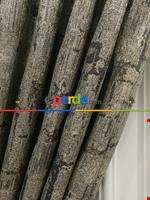 Modern Desenli Jakarlı Fon Perde- Yeşil-kum Beji Gri Füme Antrasit - Sarı