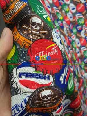 Pop-art Desenli Fon Perde Evm435 -p - Kumaşı Kalındır Duck Bezi Değildir.- Mavi-Kahve-Çok Renkli