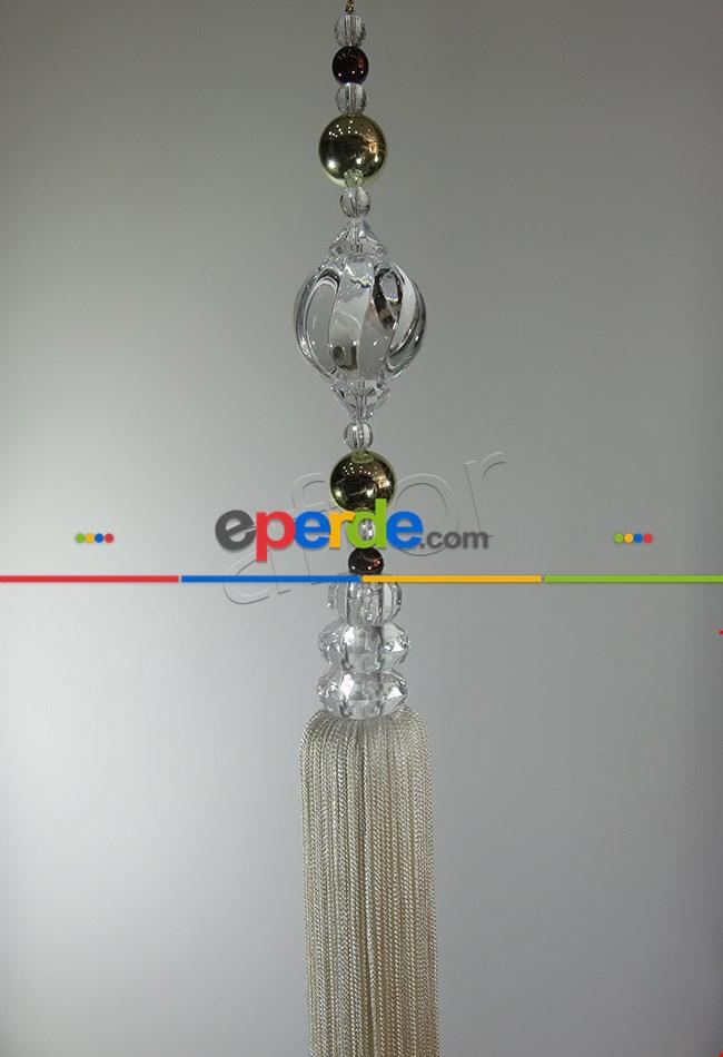 Perde Sarkıtı Zincirli Kavuk Model Krem