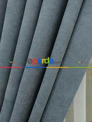 Gri Rengi Düz Fon Perde Dökümlü Birinci Kalite 300 Cm Geniş En Daha Hesaplı