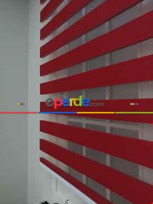 Salon Zebra - Rakipsiz Fiyat Son İndirim!!!İndirimli!!! Zebra Perde Kırmızı Zebra Ozel Fiyat- Kırmızı