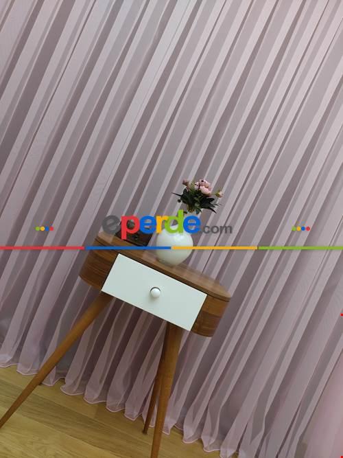 Çocuk Odası Tül Perde - Açık Pembe Tül Perde- Pembe