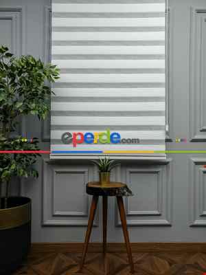 Salon Zebra Perde - 2021 Sezonu - Zebra Perde - Dar Plise (pileli) Zebra Perde- Beyaz