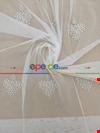 Kum Beji Renk Damask Desenli Nakış İşlemeli Tül Perde