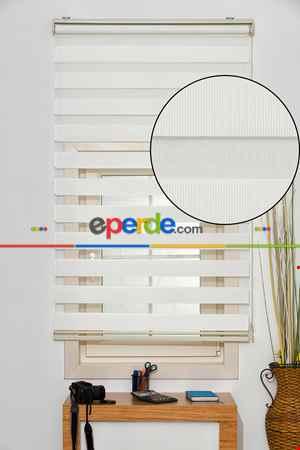 Salon Zebra Perde -Indirimli !!! Beyaz Ucuz Bambu Zebra Perde Ozel Fiyat- Beyaz