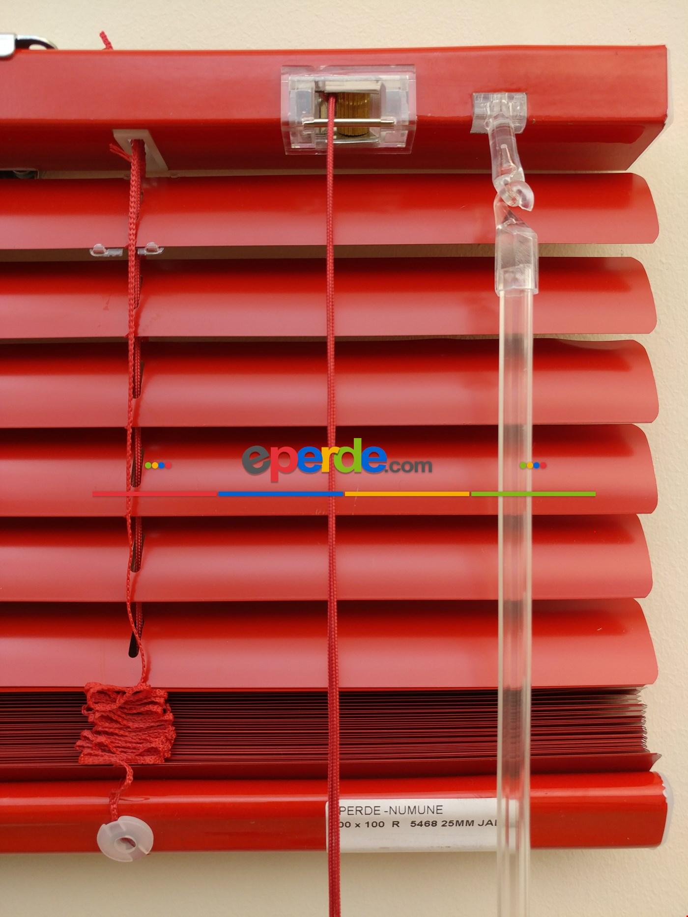 Kırmızı - Alüminyum Jaluzi Perde - 25mm Kalınlığında