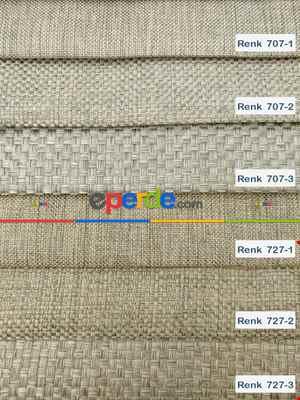 Salon Perdesi - Keten Hasır Düz Fon Perde Dökümlü Birinci Kalite 300cm Geniş En Daha Hesaplı- Krem