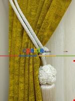 Pudra Pembe - Düz Jakar Fon Perde (180) Hardal