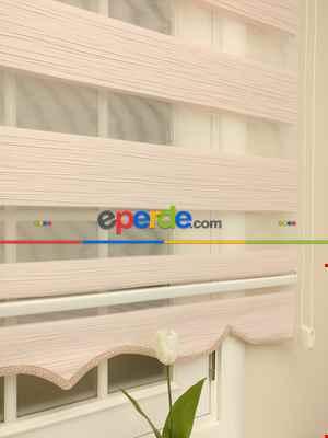 Salon Zebra Perde - Zebra Perde - Mallorca Pembe Renk Kırık Plise (yeni Sezon)- Pembe Açık