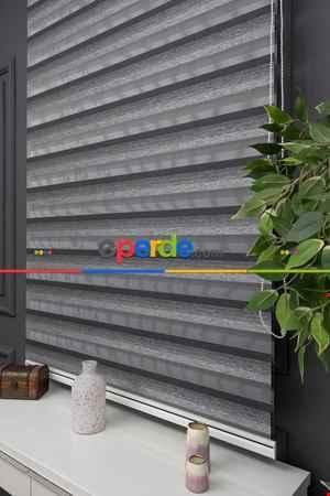 Salon - Zebra Perde -renk Geçişli Bambu Zebra Perde