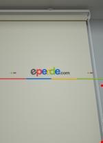 Ekru Düz Yıkanabilir Polyester 1.kalite Stor Perde Krem