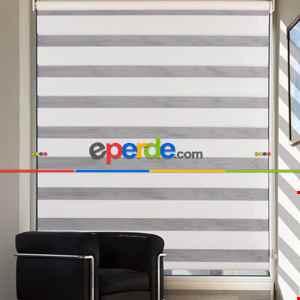 Salon Zebra Perde -Indirimli !!! Düz Seri Krem Zebra Perde Ozel Fiyat- Krem