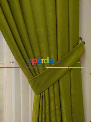 Soft Fon Perde- Fıstık Yeşili