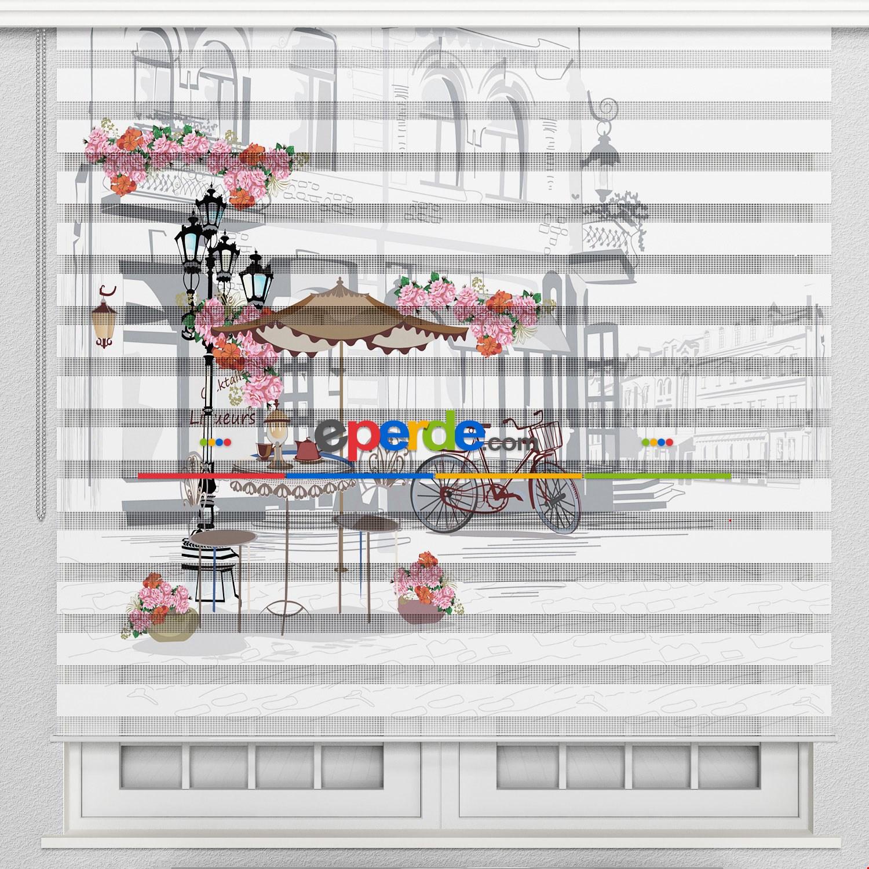 Mutfak Perdesi, Baskılı Zebra Perde