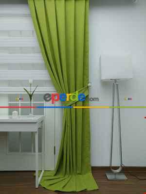 Fıstık Yeşil - Düz Fon Perde- Fıstık Yeşili