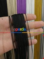 Bordo Rengi İp Perde İnce Zincir Serisi Siyah