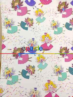 Çocuk Odası Fon - Sihirbaz Kız Fon Perde ( Kalın Pamuklu Kumaş)- Mavi