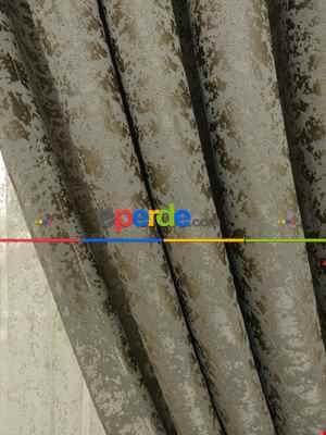 Toprak Rengi Duz Jakar Fon Perde (180)- Kahverengi