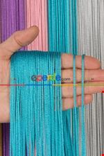 Kalın Zincir Serisi İp Perde Gold- Roze Gold Mavi