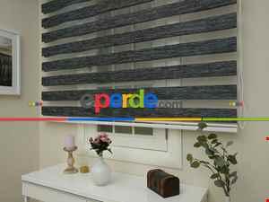 Zebra Perde -bambu Düz Zebra Perde- Füme-antrasit