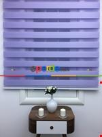Zebra Perde-tual Turkuaz Renk Düz Zebra Perde Leylak