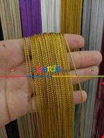 Bordo Rengi İp Perde İnce Zincir Serisi Sarı