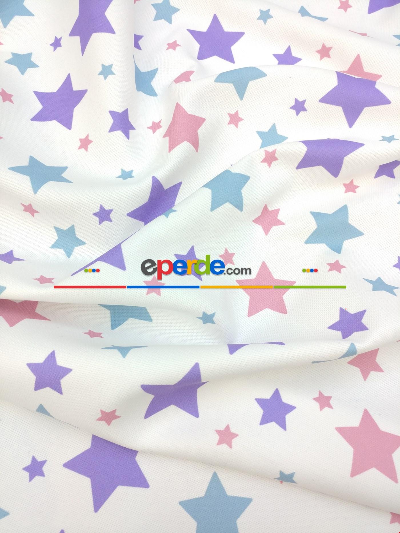 Soft Yıldızlar Kız & Erkek Bebek Odası Fon Perde Modelleri