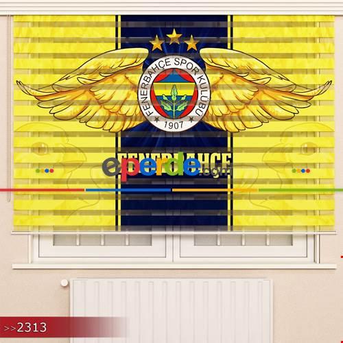 Fenerbahçe Özel Poster Baskılı Zebra Perde