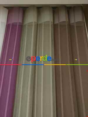 1. Kalite Çizgili Tül Dikey Zebra Perde - Ft11 Sütlü Kahve- Ft09 Elegance- Ft21 Gül Kurusu- Ft02 Ekru- Gül Kurusu-ekru-sütlü Kahve-açık Yeşil 2