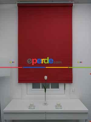 Mat Stor Perde - Kırmızı- Kırmızı