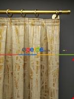 Modern Desenli Jakarlı Fon Perde Yeni Seri 101- Bej-füme-kahve Koyu-mavi Doymamış Krem - Altın