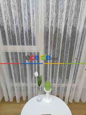 Salon Yatak Odası Fransız Dantel 2021 Tül Perde- Ekru
