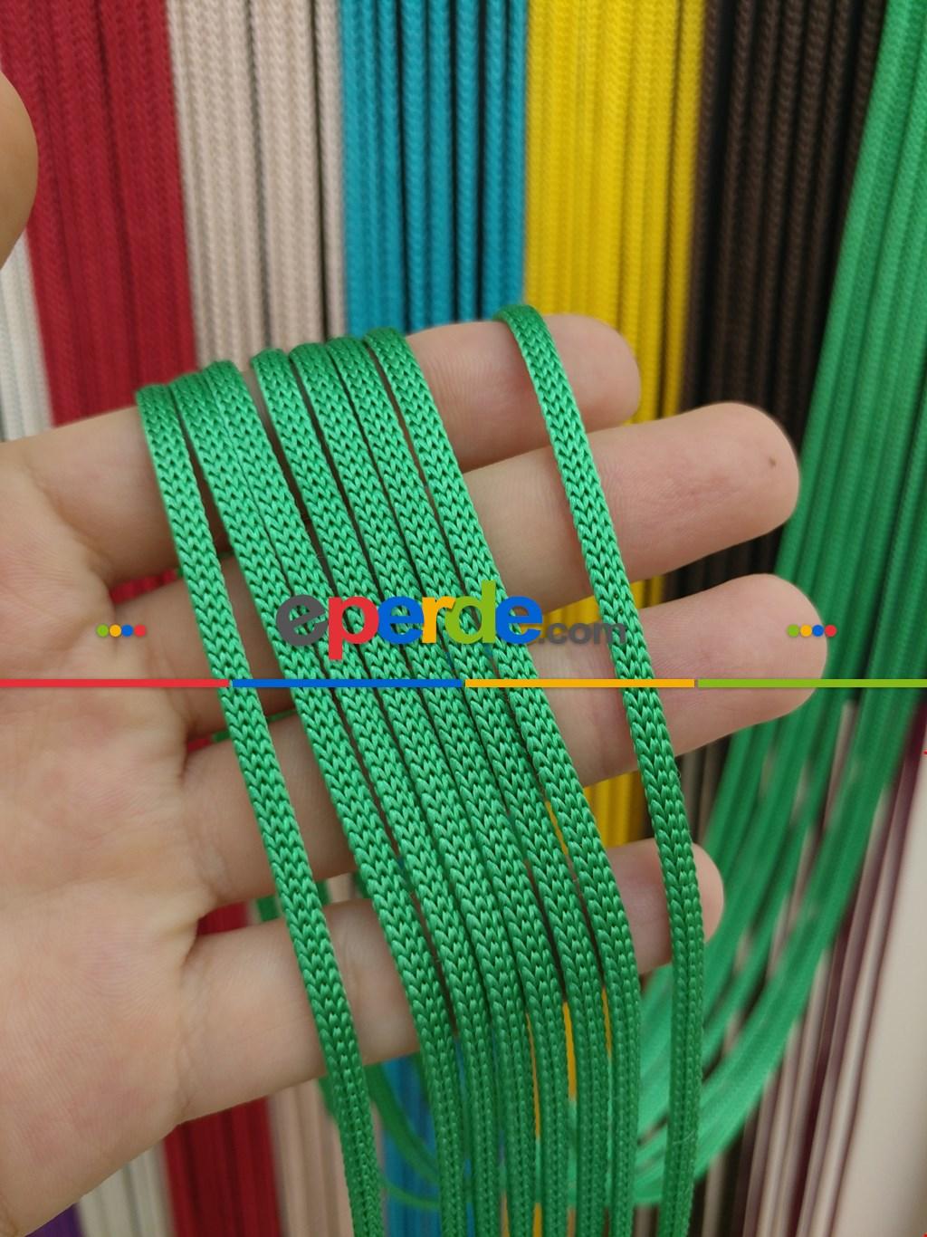 Yeşil Rengi İp Perde Jumbo Zincir Serisi- Yeşil